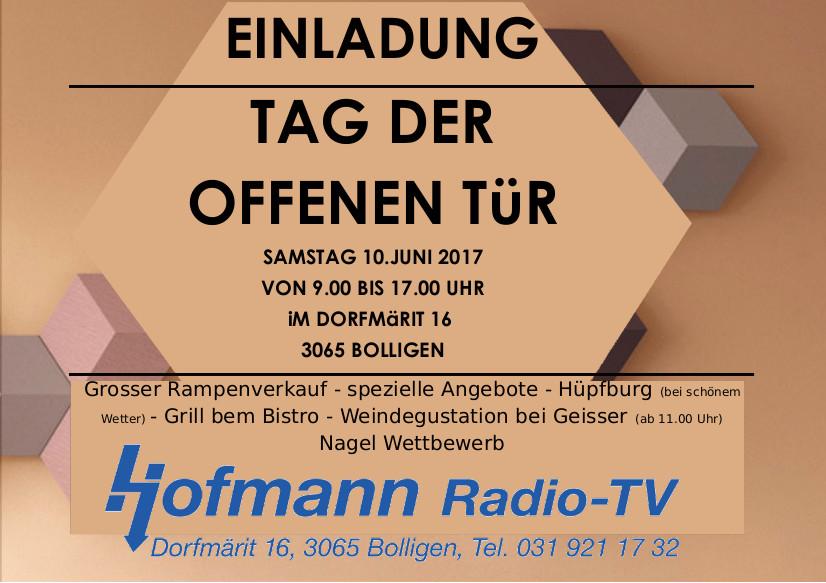 einladung zum tag der offenen tÜr | rtv-hofmann, Einladung